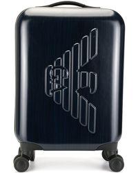 Emporio Armani Valise à logo - Bleu