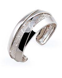 Mattioli 18kt White Gold Diamond Cuff - Metallic