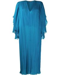 Alberta Ferretti プリーツ シフトドレス - ブルー