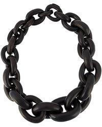 Monies Chain necklace - Noir