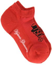 Hysteric Glamour Printed Socks - Red