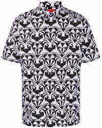 HUGO プリント ショートスリーブシャツ - ブラック