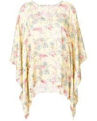 Xacus - Clea Flamingo Print Blouse - Lyst