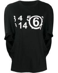 MM6 by Maison Martin Margiela ロゴ Tシャツ - ブラック