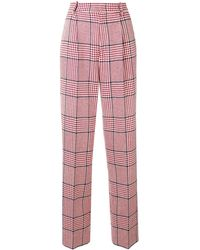 Gucci Straight-leg Check Trousers - レッド