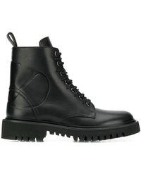 Valentino Garavani Vlogo Combat Boots - Black