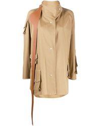 Loewe Пальто Асимметричного Кроя - Коричневый