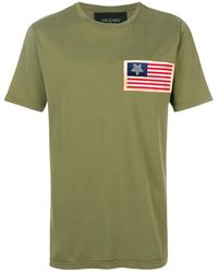 Mr & Mrs Italy Flag Patch T-shirt - Green