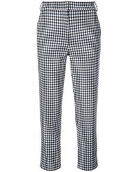 Tibi - Beatle Gingham Cropped Trousers - Lyst