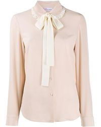 RED Valentino Pussy-bow Collared Shirt - Pink