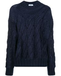 Prada モヘアウール セーター - ブルー