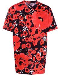 Les Hommes フローラル Tシャツ - レッド