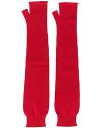 Maison Margiela Длинные Перчатки-митенки - Красный
