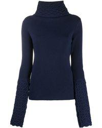 Temperley London タートルネック セーター - ブルー