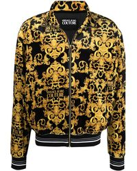 Versace Jeans Couture Бомбер С Принтом Baroque - Черный