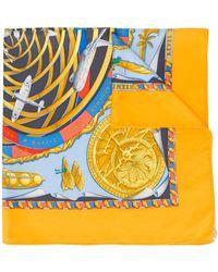 Hermès Pre-owned Sjaal Met Print - Geel