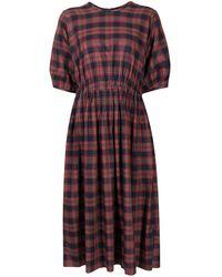 YMC チェック ドレス - レッド