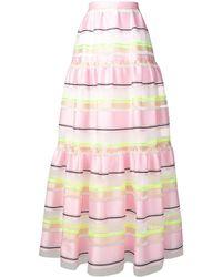 Delpozo レイヤード スカート - ピンク