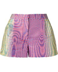 Mary Katrantzou Zeta optic moire print shorts - Multicolore