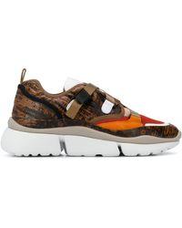 Chloé Sonnie Low-top Sneakers - Bruin