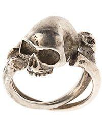 Werkstatt:münchen Cross Bones + Skull リング - マルチカラー