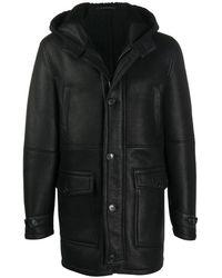 Dondup フーデッド コート - ブラック