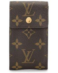 Louis Vuitton Pre-owned Sleutelhouder Met Monogramprint - Bruin