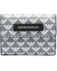 Emporio Armani Кошелек С Монограммой - Серый