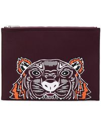 KENZO - F765pm302f21 23 Bordeaux Leather/fur/exotic Skins->leather - Lyst