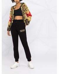 Versace Jeans Couture ロゴ トラックパンツ - ブラック