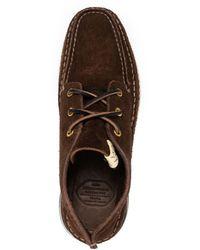 Visvim Voyageur Moc Folk Leather Sneakers - Brown