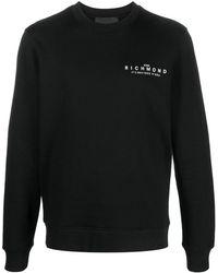 John Richmond ロゴ スウェットシャツ - ブラック