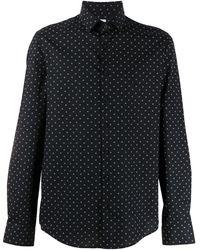 Calvin Klein Рубашка Со Сплошным Принтом - Черный