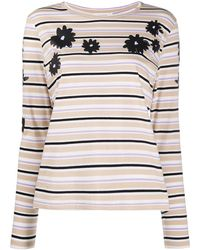Chinti & Parker Long-sleeved Striped T-shirt - Multicolour