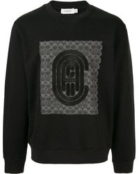 COACH リラックスフィット スウェットシャツ - ブラック