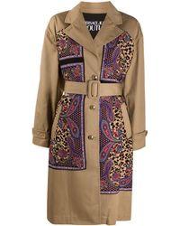 Versace Jeans Couture Paisley Print Panel Coat - Multicolour