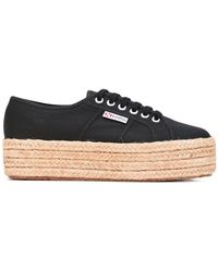 Superga - Platform Lace-up Trainers - Lyst