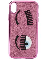 Chiara Ferragni Flirting Embroidered Iphone Xr Case - Pink