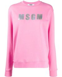 MSGM Sweater Met Logopatch - Roze