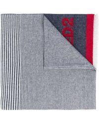 DSquared² パネル ニットスカーフ - ブルー