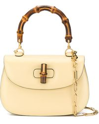 Gucci Bamboo Top Handle Bag - Yellow