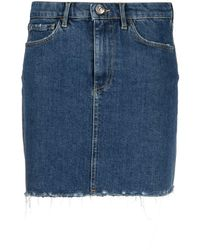 3x1 Denim Mini Skirt - Blue