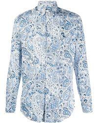 Etro Camisa con estampado de cachemira - Azul