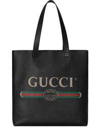 Gucci Сумка-тоут С Логотипом - Черный