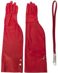 Rick Owens Длинные Перчатки - Красный