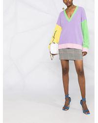 Versace Джемпер Со Вставками - Пурпурный