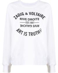 Zadig & Voltaire Art Is Truth Print Sweatshirt - White
