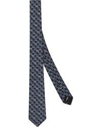 Fendi Cravate à logo imprimé - Bleu