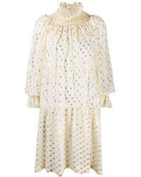 P.A.R.O.S.H. - Polka dot shirt dress - Lyst