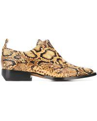 Chloé Loafers Met Python Print - Geel
